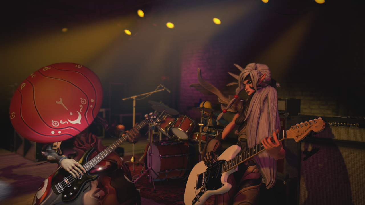 Thorn and Miko in Rock Band 4