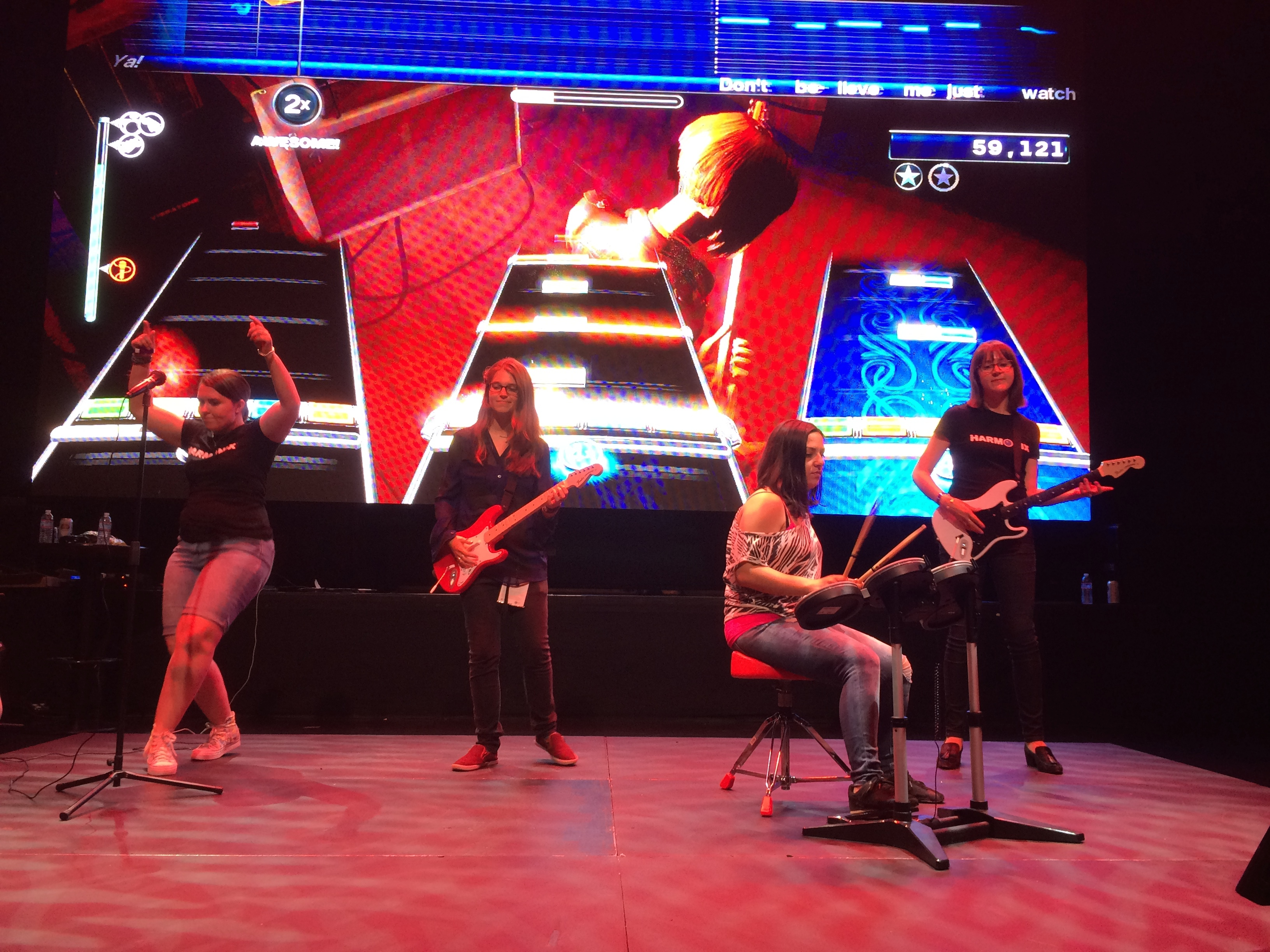 Harmonix Devs on the Rock Band Stage