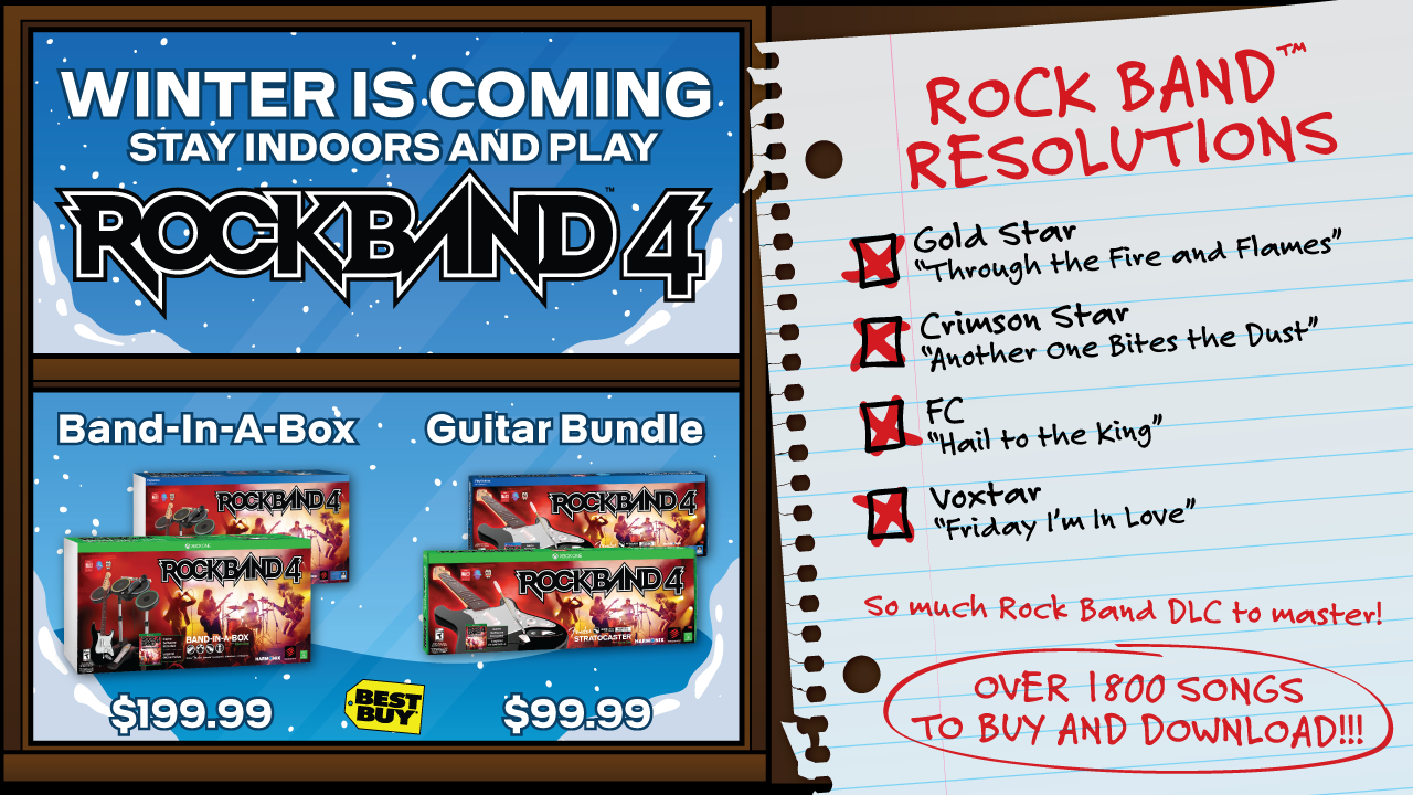 Rock Band 4 Resolutions