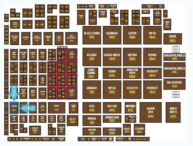 [BOOTH LAYOUT PIC FROM OFFICIAL PAX SITE]