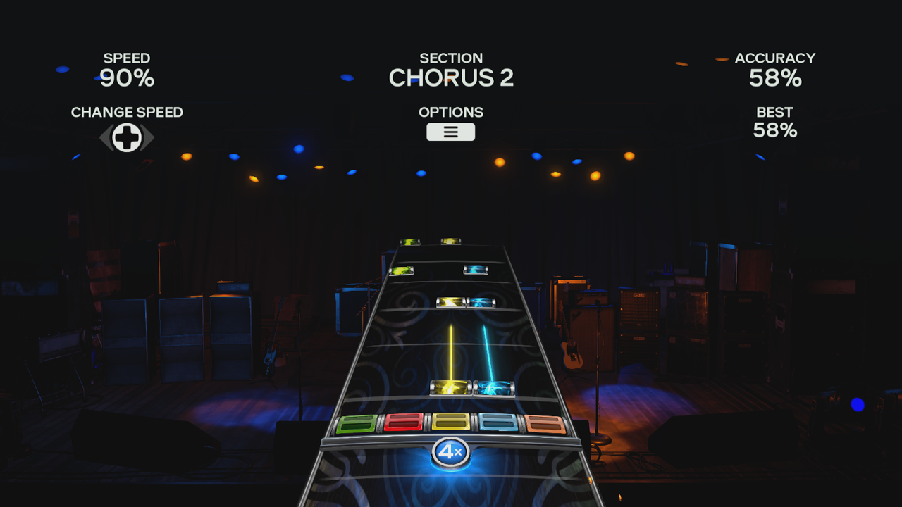 Practice Mode in Rock Band 4
