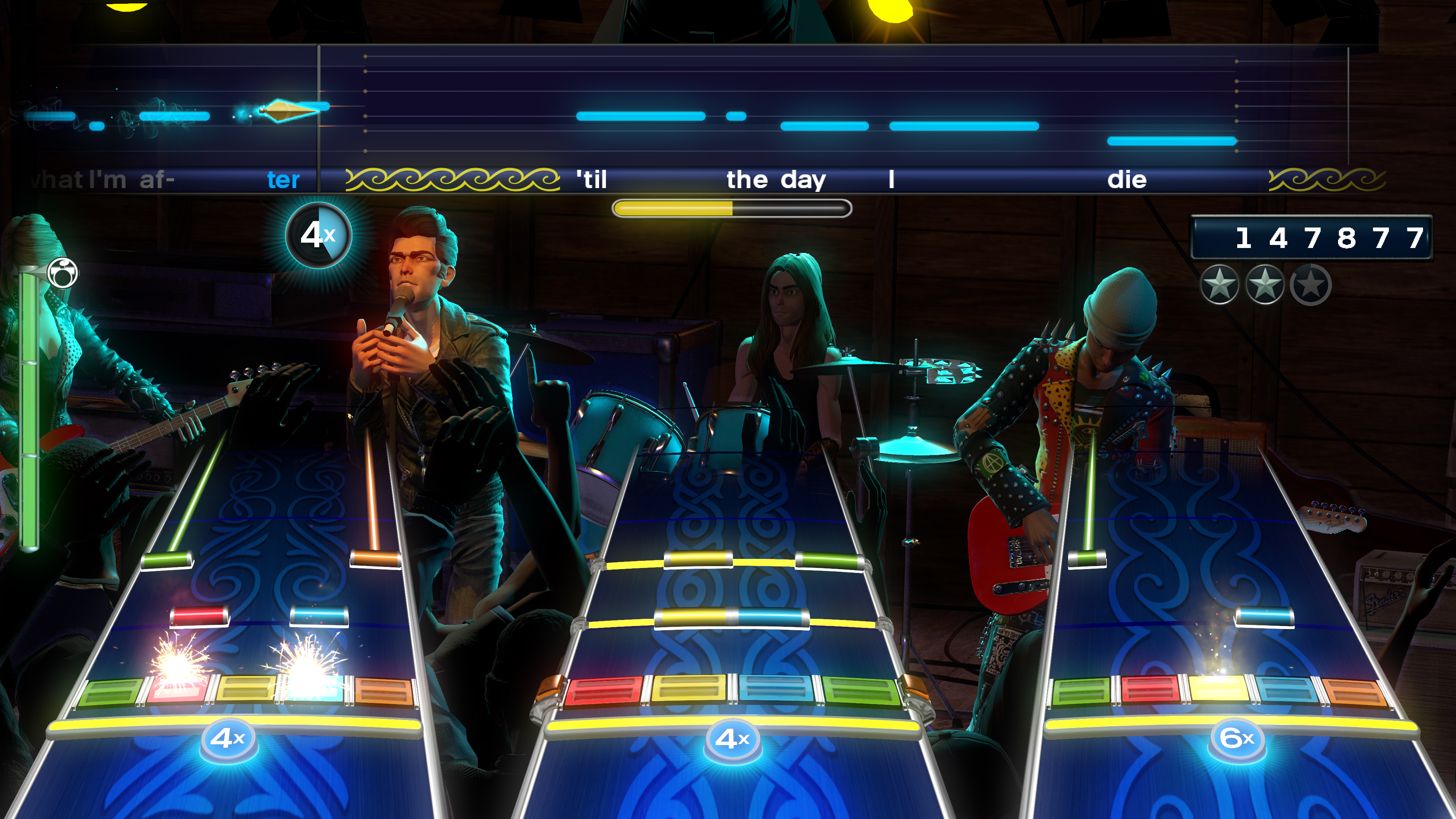 """Hail to the King"" performed in Rock Band 4"