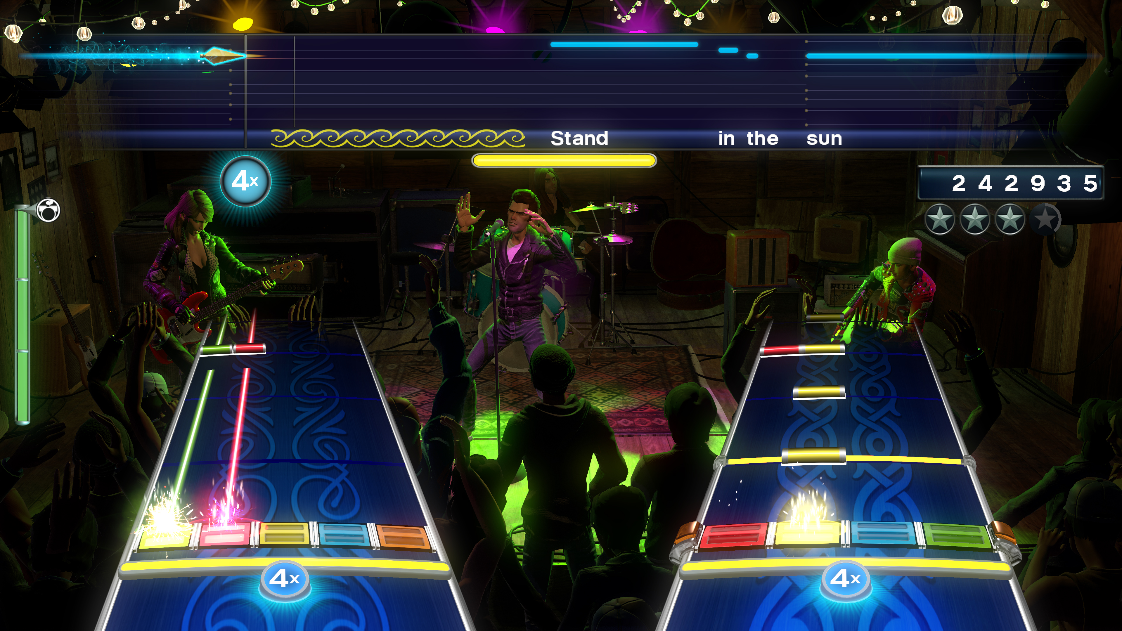 A screenshot from the new Rock Band 4!