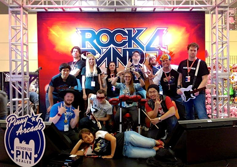 Seattle Rock Band Group and HMX at PAX