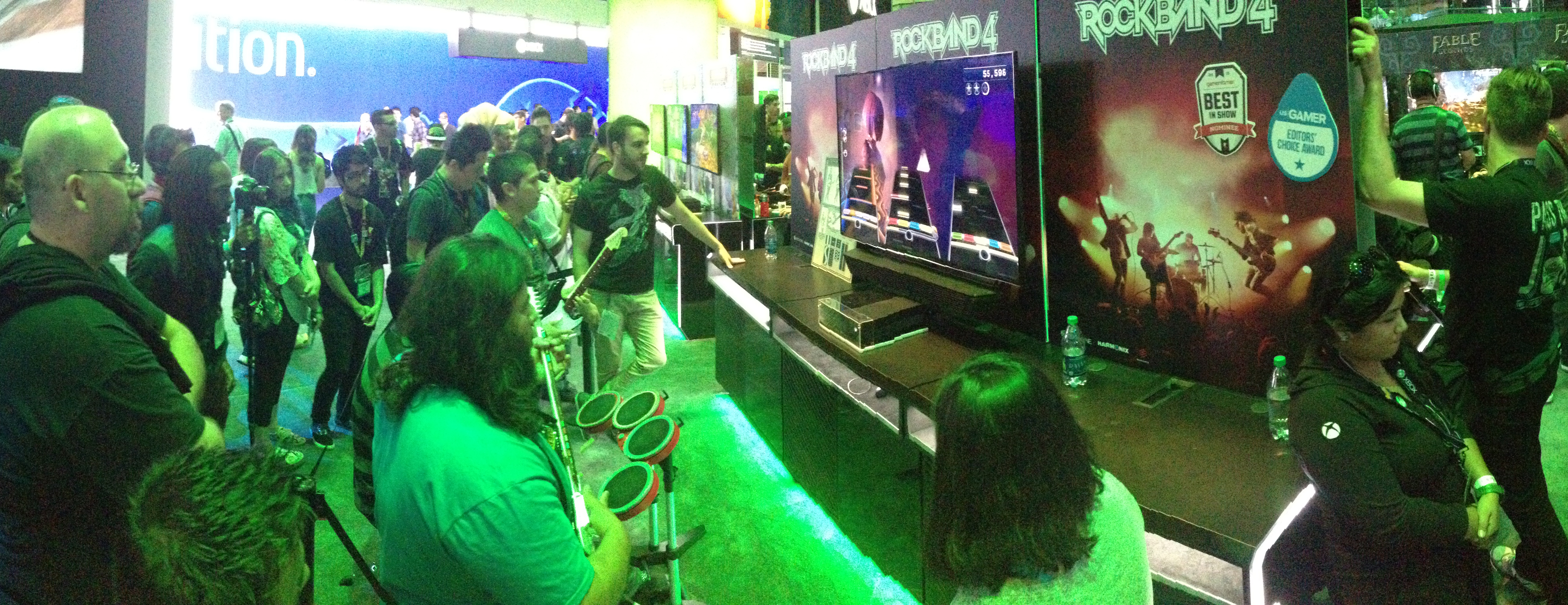 Rock Band 4 at the Xbox booth