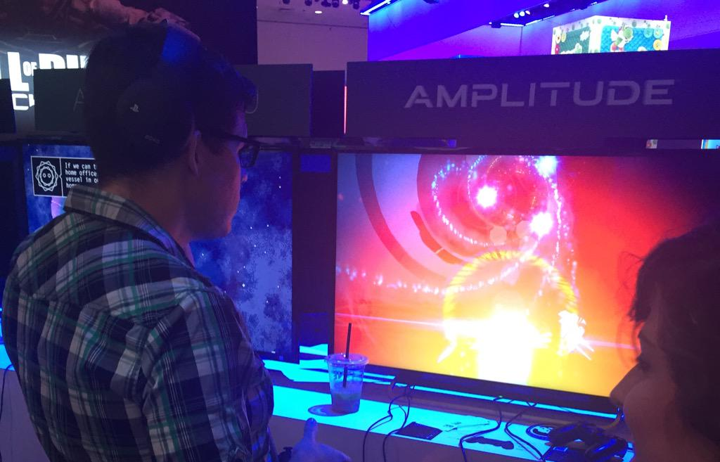 YouTubers playing Amplitude at E3