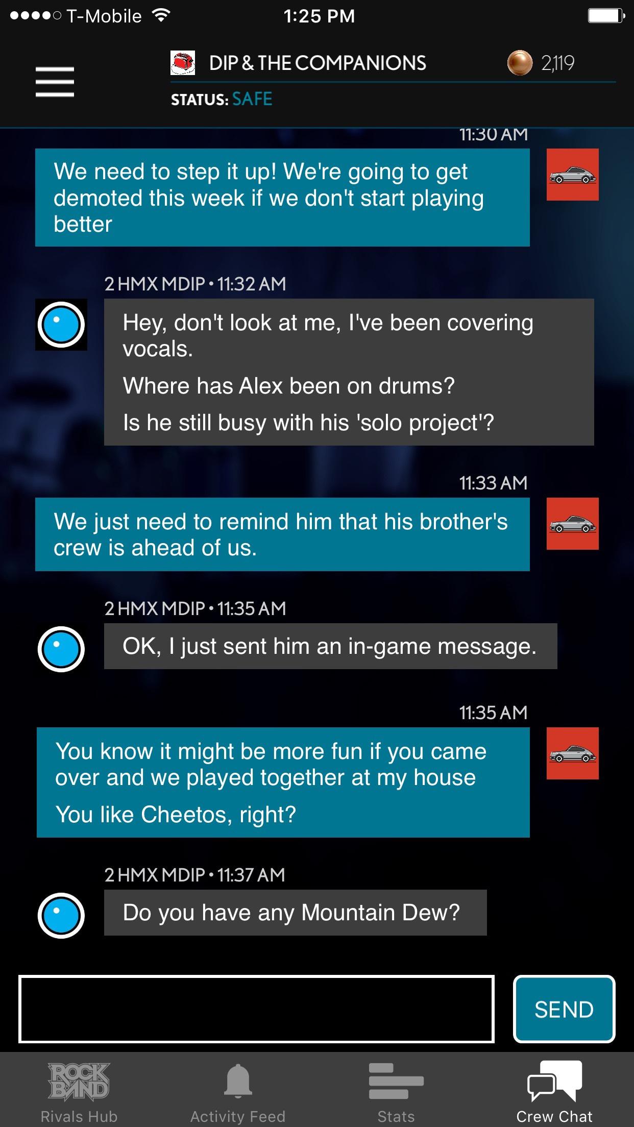 Companion App - Crew Chat